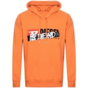 Product Image for Diesel Haute Couture Logo Hoodie Orange