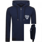 Product Image for Just Cavalli Full Zip Olympic Patch Hoodie Navy