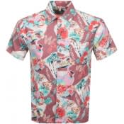 Product Image for Replay Short Sleeved Tropical Shirt Pink