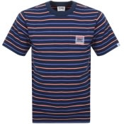 Product Image for Billionaire Boys Club Stripe Pocket T Shirt Navy