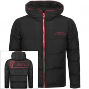 Product Image for Versace Collection Padded Hooded Jacket Black