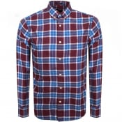Product Image for Gant Long Sleeve Winter Twill Check Shirt Red