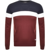 Product Image for Emporio Armani Crew Neck Knit Jumper Burgundy