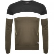 Product Image for Emporio Armani Crew Neck Knit Jumper Khaki