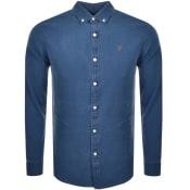 Product Image for Farah Vintage Brewer Indigo Shirt Blue