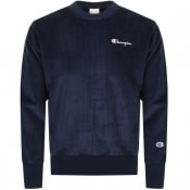 Product Image for Champion Crew Neck Logo Sweatshirt Navy
