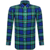 Product Image for Ralph Lauren Long Sleeved Twill Shirt Green