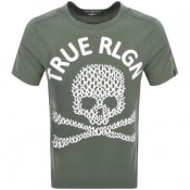 Product Image for True Religion Crew Neck Logo T Shirt Green