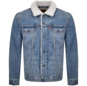 Product Image for Levis Sherpa Trucker Jacket Blue