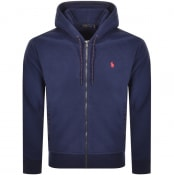 Product Image for Ralph Lauren Full Zip Fleece Hoodie Navy