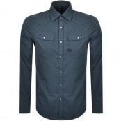Product Image for G Star Raw Long Sleeved Slim 3301 Shirt Blue