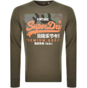 Product Image for Superdry Orange Camo Crew Neck Sweatshirt Green