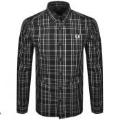 Product Image for Fred Perry Long Sleeved Check Shirt Black