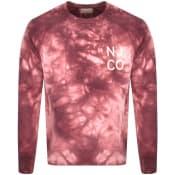 Product Image for Nudie Jeans Melvin Tie Dye Sweatshirt Pink