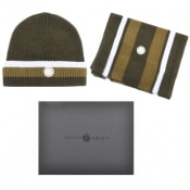 Product Image for Pretty Green Beanie Hat And Scarf Gift Set Green