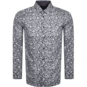 Product Image for Ted Baker Droite Long Sleeved Shirt Navy