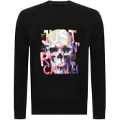Product Image for Just Cavalli Crew Neck Logo Sweatshirt Black