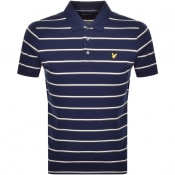 Product Image for Lyle And Scott Multi Striped Polo T Shirt Navy
