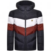 Product Image for Lyle And Scott Hooded Puffer Jacket Navy