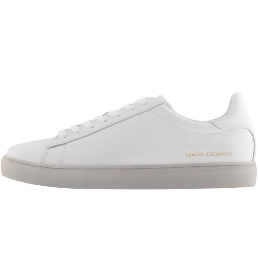 Armani Exchange Logo Trainers White