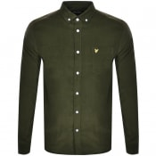 Product Image for Lyle And Scott Needle Cord Long Sleeve Shirt Green