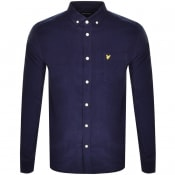 Product Image for Lyle And Scott Needle Cord Long Sleeve Shirt Navy