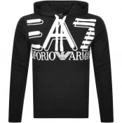 Product Image for EA7 Emporio Armani Logo Hoodie Black