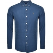 Product Image for Farah Vintage Brewer Long Sleeve Shirt Blue