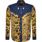 Product Image for Versace Jeans Couture Gold Tip Denim Shirt Black
