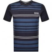 Product Image for BOSS HUGO BOSS Stripe Crew Neck T Shirt Navy