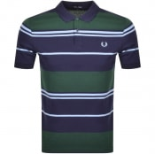 Product Image for Fred Perry Striped Polo T Shirt Blue