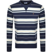 Product Image for Farah Vintage Noble Stripe Sweatshirt Navy