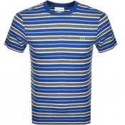 Product Image for Lacoste Crew Neck Stripe T Shirt Blue