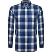 Product Image for Barbour Long Sleeved Indigo 9 Check Shirt Blue