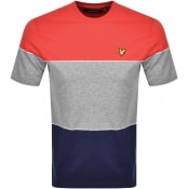 Product Image for Lyle And Scott Wide Multi Stripe T Shirt Red