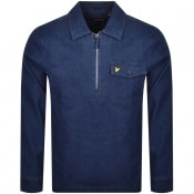 Product Image for Lyle And Scott Long Sleeved Half Zip Shirt Blue