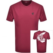 Product Image for Vivienne Westwood Small Orb Boxy T Shirt Burgundy