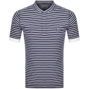Product Image for Vivienne Westwood Pique Stripe T Shirt Navy