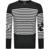 Product Image for True Religion Long Sleeved Stripe T Shirt Black