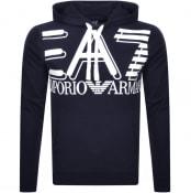 Product Image for EA7 Emporio Armani Logo Hoodie Navy