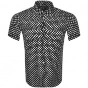 Product Image for Emporio Armani Slim Fit Short Sleeved Shirt Black