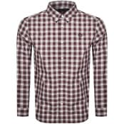 Product Image for Fred Perry Tartan Long Sleeved Logo Shirt Red