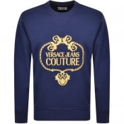 Product Image for Versace Jeans Couture Logo Sweatshirt Blue