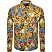 Product Image for Versace Jeans Couture Print Overshirt Black