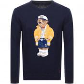 Product Image for Ralph Lauren Bear Knit Jumper Navy