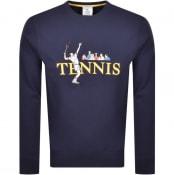 Product Image for Lacoste Live Crew Neck Sweatshirt Navy