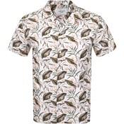 Product Image for Les Deux Latif Flower Short Sleeved Shirt Cream