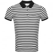 Product Image for Calvin Klein Jeans Mini Stripe Polo T Shirt Black