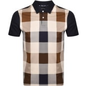 Product Image for Aquascutum Abner Club Check Polo T Shirt Navy