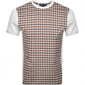 Product Image for Aquascutum Greg Club Check T Shirt White